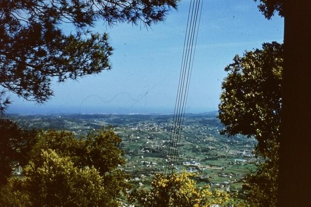 Widok z Grasse w kierunku Cote d'Azur